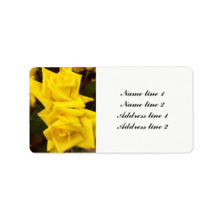 Yellow roses wedding address labels