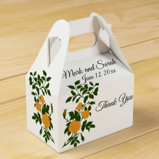 Yellow Roses Wedding or Anniversary Celebration Favor Box