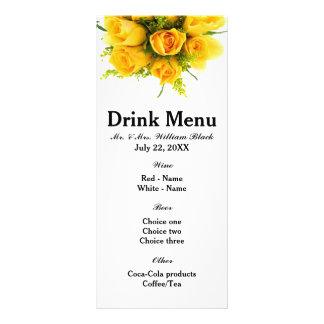 Yellow Roses White - Menu Rack Card Design