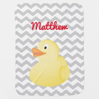 Yellow Rubber Duck baby blanket