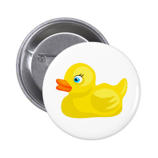 Yellow Rubber Duck 2 Inch Round Button