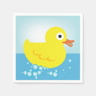 Yellow Rubber Duck Paper Napkins