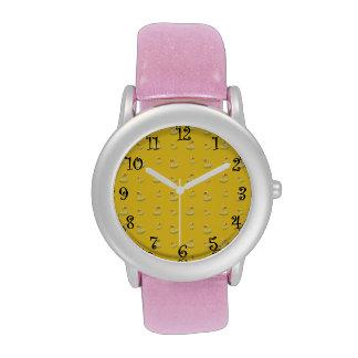 Yellow rubber duck pattern wrist watches