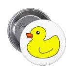 Yellow Rubber Duck Pinback Button