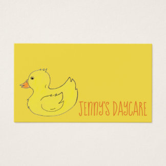 Yellow Rubber Duck Preschool Daycare Teacher Ducky Business Card
