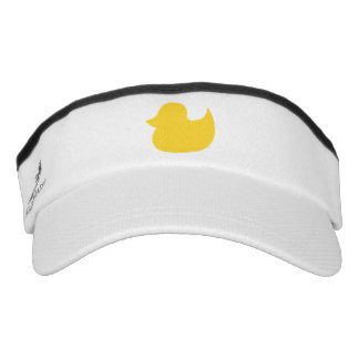 Yellow Rubber Duck Silhouette Shape Visor