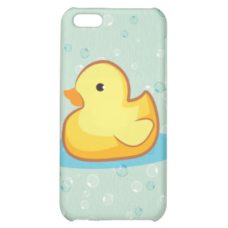 Yellow rubber duck with bubbles iPhone 4S Case For iPhone 5C