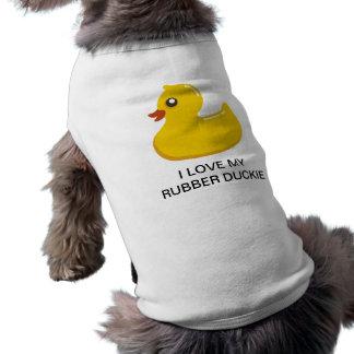 Yellow Rubber Duckie Graphic Art Dog Shirt