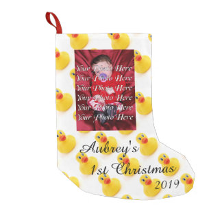 Yellow Rubber Ducks 1st Christmas Small Christmas Stocking