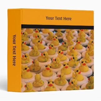 Yellow Rubber Ducks 3 Ring Binder