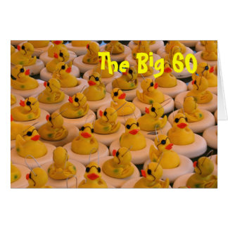 Yellow Rubber Ducks 60th Birthday Funny Card