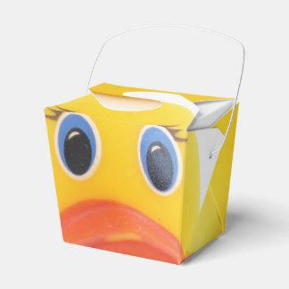 Yellow Rubber Ducks Baby Shower Favor Box