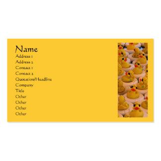 Yellow Rubber Ducks Cute Business Card