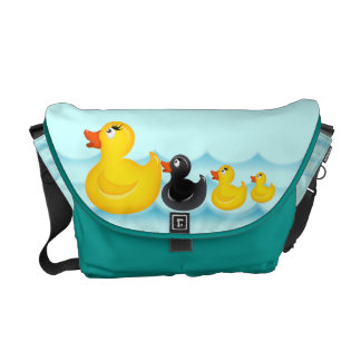 Yellow Rubber Ducks Rickshaw Messenger Bag