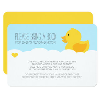 Yellow Rubber Ducky Bubble Bath Baby Shower Card
