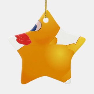 Yellow Rubber Ducky Ceramic Ornament