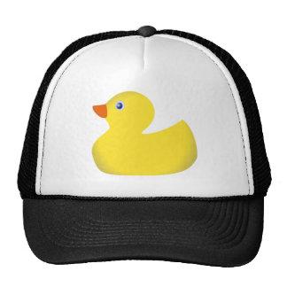 Yellow rubber ducky trucker hats