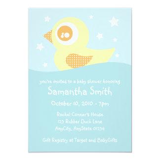 Yellow Rubber Ducky Invitation