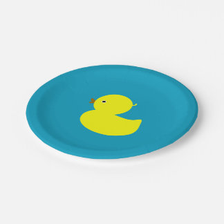 Yellow Rubber Ducky Paper Plate