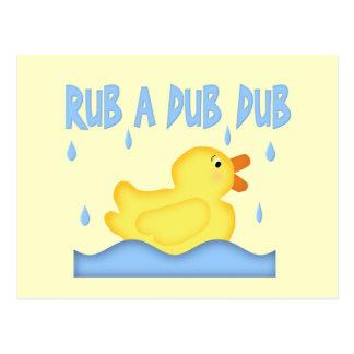 Yellow Rubber Ducky Rub A Dub Dub Postcard