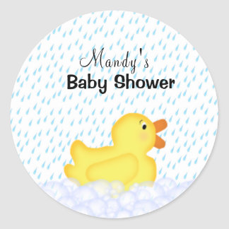 Yellow Rubber Ducky Shower Stickers