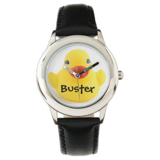 Yellow Rubber Ducky with Name Watches