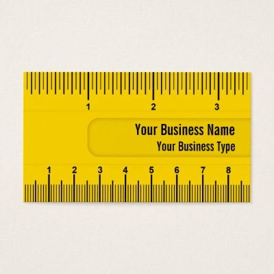 yellow yardstick ruler tradesman and builder business card zazzle ca