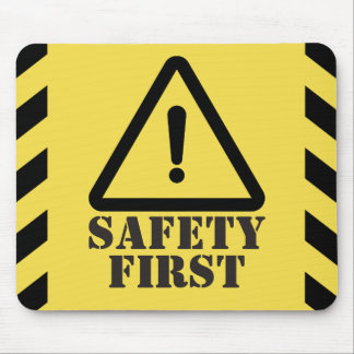 Yellow Safety First Mouse Pad