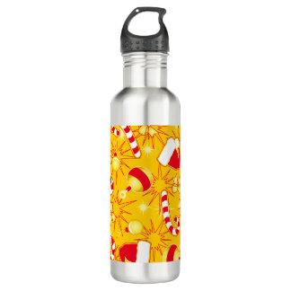 Yellow - Santa's cap 710 Ml Water Bottle