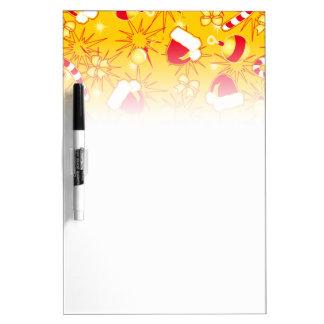 Yellow - Santa's cap Dry Erase Board