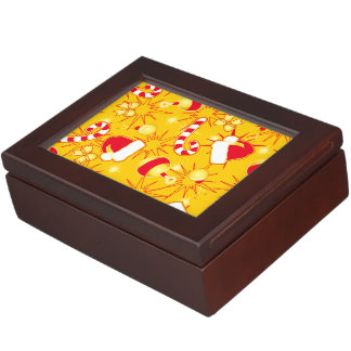 Yellow - Santa's cap Keepsake Box