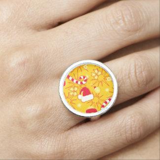 Yellow - Santa's cap Photo Ring