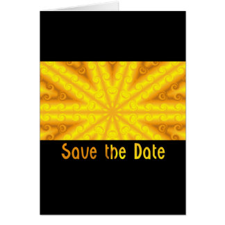 Yellow Save the Date Greeting Card