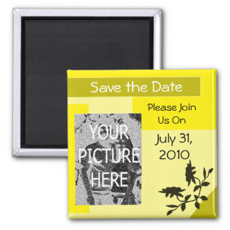 Yellow Save the Date Magnet