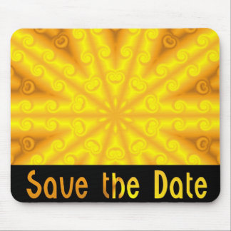 Yellow Save the Date Mouse Pad