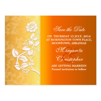 yellow save the date stylish wedding postcards