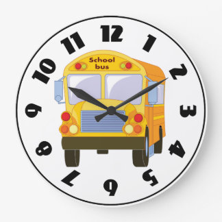 Yellow School Bus Clock