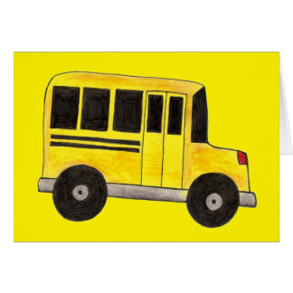 Yellow School Bus Driver Education Teacher Cards