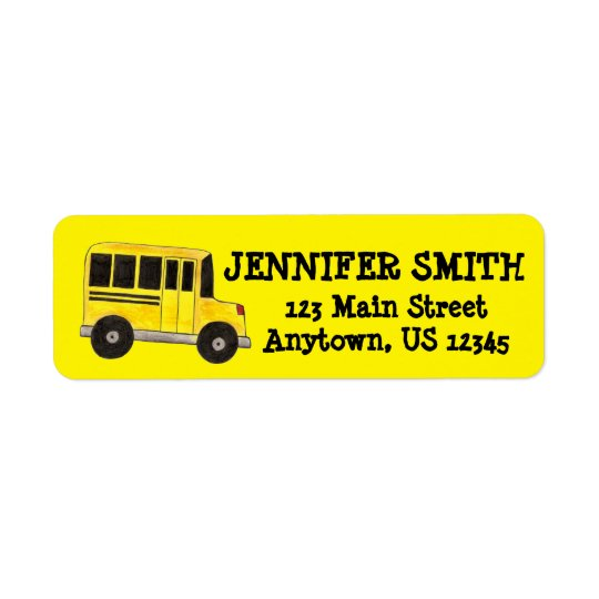 Yellow School Bus Driver Education Teacher Labels