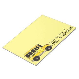 Yellow School Bus Driver Teacher Notepad