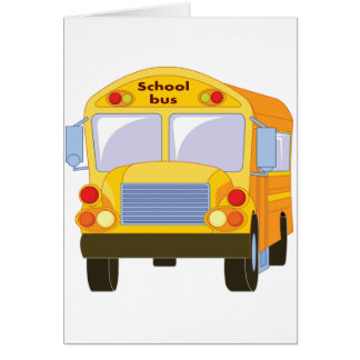 Yellow School Bus Greeting Cards