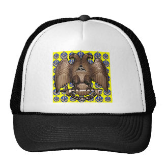 Yellow Scottish Rite Square & Compass Trucker Hat