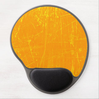 Yellow Scratched Aged and Worn Texture Gel Mousepads