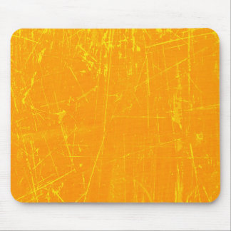 Yellow Scratched Aged and Worn Texture Mousepads