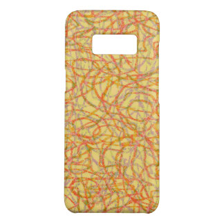 Yellow scribbled lines pattern Case-Mate samsung galaxy s8 case