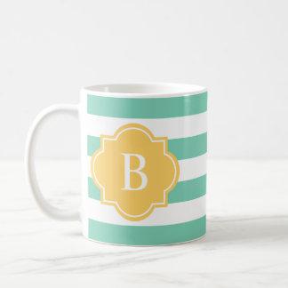 Yellow & Seafoam Rugby Stripe | Mug
