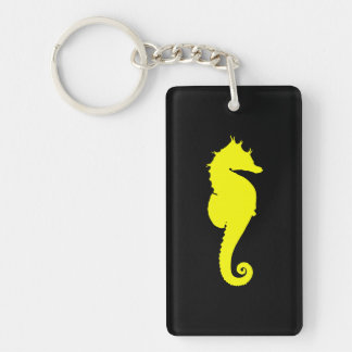 Yellow Seahorse Keychain