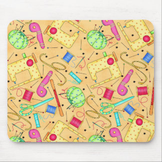 Yellow Sewing Notions Mousepad