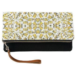 Yellow Shapes Clutch Bag