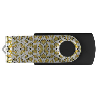 Yellow Shapes USB Flash Drive